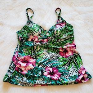 St. John's Bay Floral Swimsuit Tankini Size 8